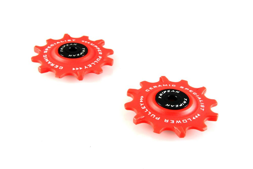 Red Fits For Shimano 91xx//80xx//90xx//68xx Tripeak Ceramic 12-12T Pulley Wheel